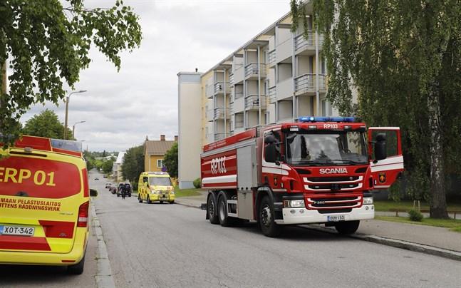 Här, på Abborrvägen 4, uppstod en liten brand på tisdag.