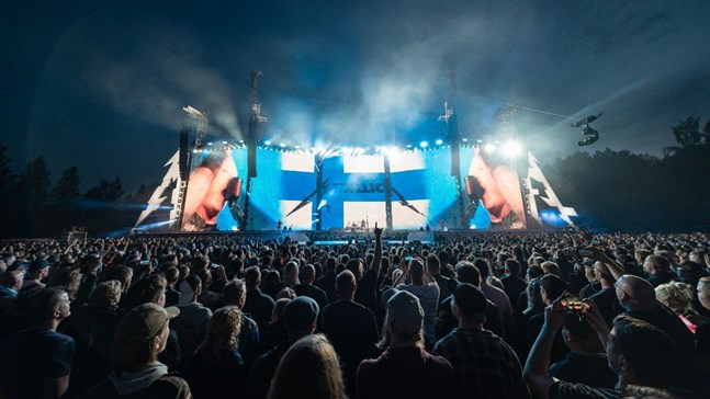 Metallica har aldrig spelat för en så stor publik i Finland tidigare.