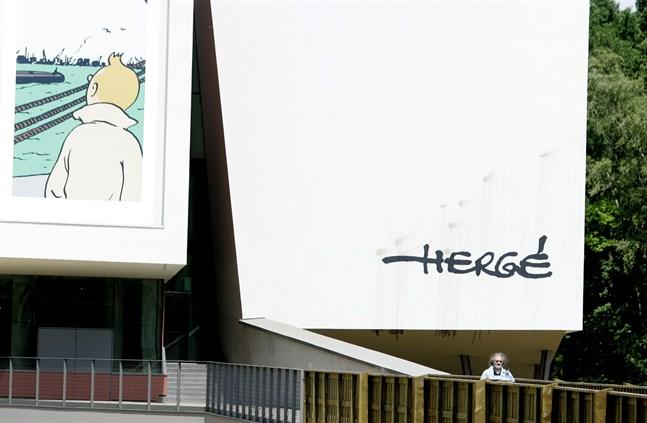 Tintinmuseet i Louvain-la-Neuve, Belgien, premiärvisade en ny dokumentärserie under söndagen. Arkivbild.