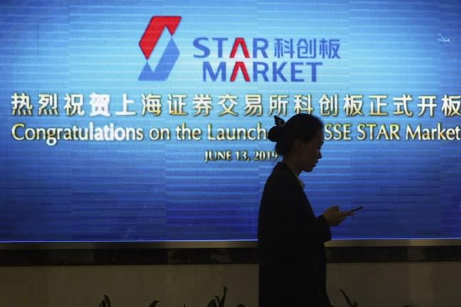 Handeln har inletts på Shanghais Star market.
