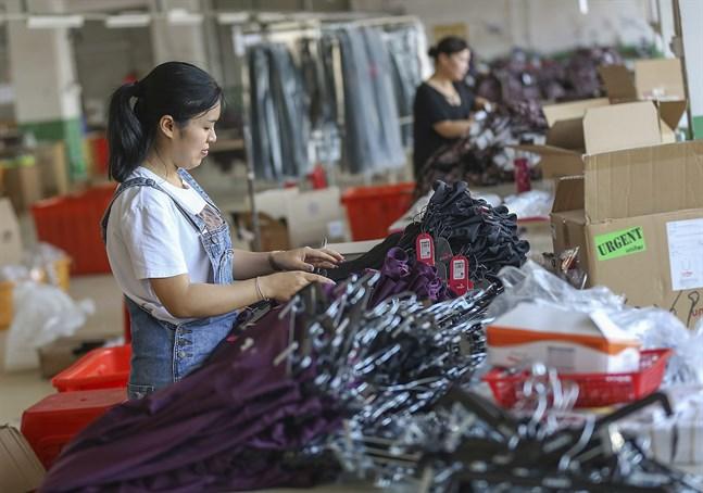 Handelskriget med USA och en minskande inhemsk efterfrågan är de största faktorerna bakom att Kinas fabriker får det allt tuffare. Bilden är från maj 2019.
