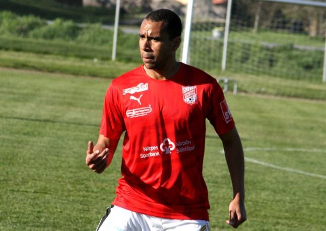 Sportings anfallare Benjamin Osei-Safo hade en del chanser mot FC Kiisto. Men Sporting får träna målskytte som följande.