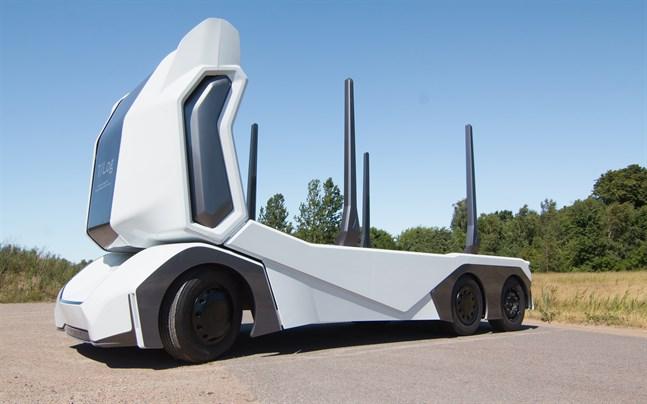 Einride är ett av de företag som är med i projektet. Företaget har tidigare utvecklat en autonom, eldriven timmerbil, en så kallad T-log.