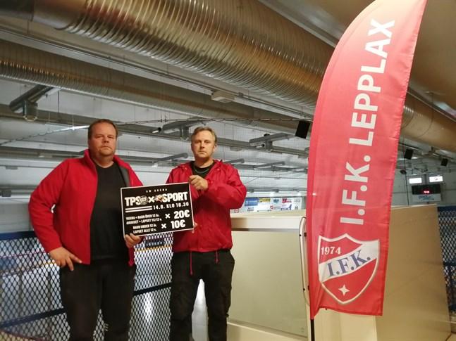 Robert Kronlund och Kaj Ahlqvist ser framemot onsdagens historiska match.