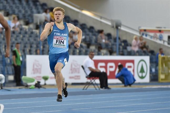 Christoffer Envall på 400 meter i lag-EM säsongen 2019.
