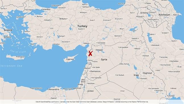 Syrien och Idlibprovinsen.
