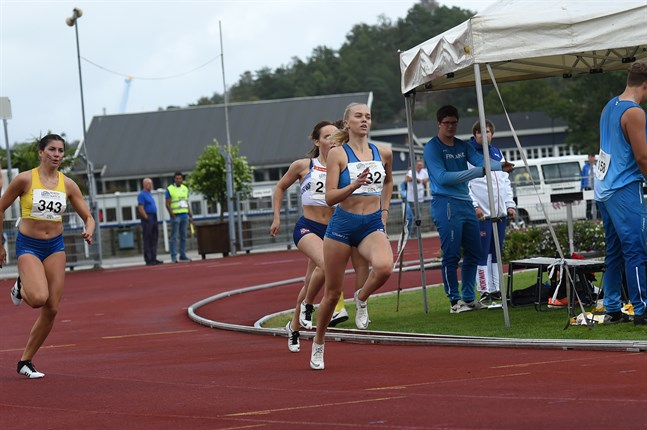 19-åriga Malva Nylund representerar vanligtvis Vasa IS, men fick tävla för Finland i Nordiska juniorkampen.