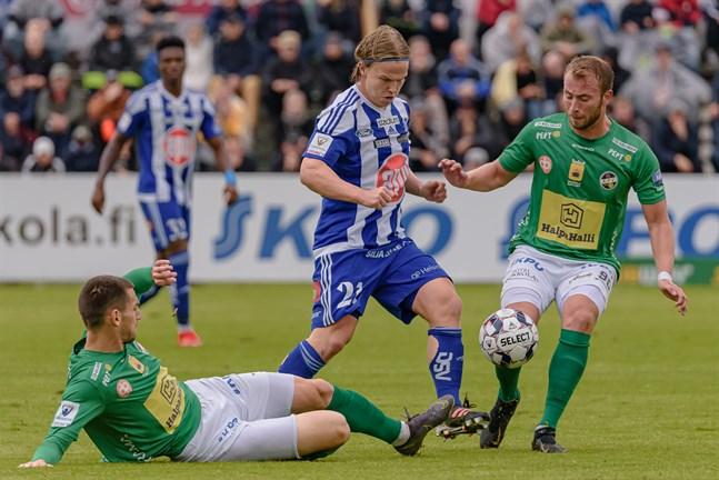 Det blir KPV mot HJK i Finlands Cup den 16 juni. Bilden är från ligamötet i Karleby sommaren 2019.