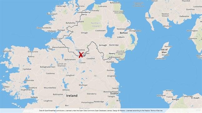 Explosionen inträffade i Newtownbutler några kilometer från gränsen till Irland.