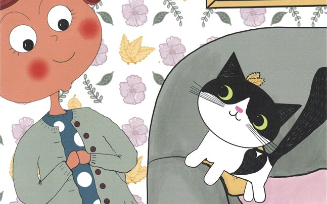 Yvonne Granqvist Schultz har skrivit en bok om hur farmor lärde känna katten Miss Li.