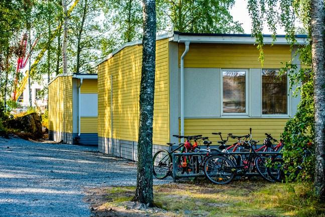 Arkivbild: Oxhamns skolas baracker.