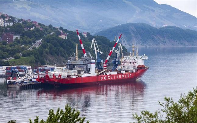 Sevmorput fotograferat i augusti i hamnen i Petropavlovsk-Kamtjatskij på Kamtjatkahalvön i östra Ryssland.