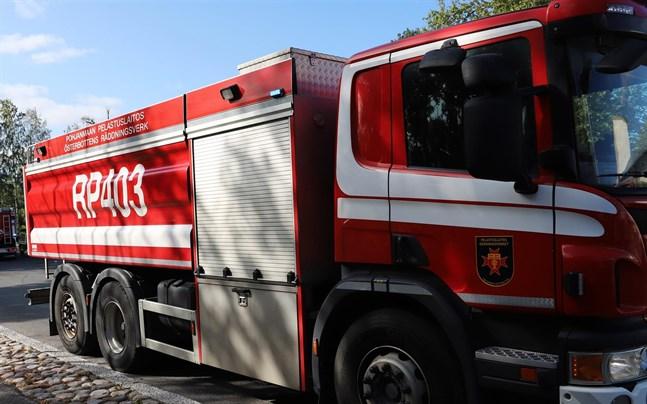 Räddningsverket ryckte ut till Kaskö på söndagen.