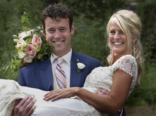 "Ulrika Jonsson gifte sig med brittiske Lance Gerrard-Wright, som deltog som ungkarl i dejtingshowen ""Mr Right"", som Jonsson programledde. Arkivbild."