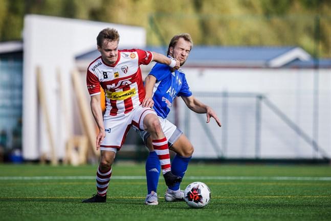 Juho Alasuutari återvänder till GBK. Bilden från matchen mot Vasa IFK 2019. Det är GBK och VIFK som möts på söndag.