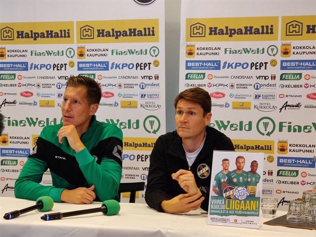 Lagkaptenen Ville Koskimaa och tränaren Jani Uotinen lovar bättre takter på lördag