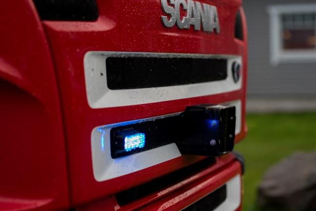 Räddningsverket ryckte ut till en olycksplats.