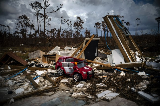Förödelse i Bahamas efter orkanen Dorian.