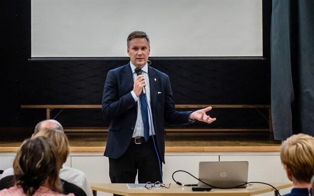 Stadsdirektör Mats Brandt kallar till samarbetsförhandling. Arkivfoto.