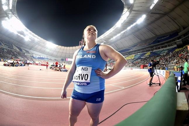 Krista Tervo var nöjd med VM-debuten då hon lyckades prestera på egen normalnivå.