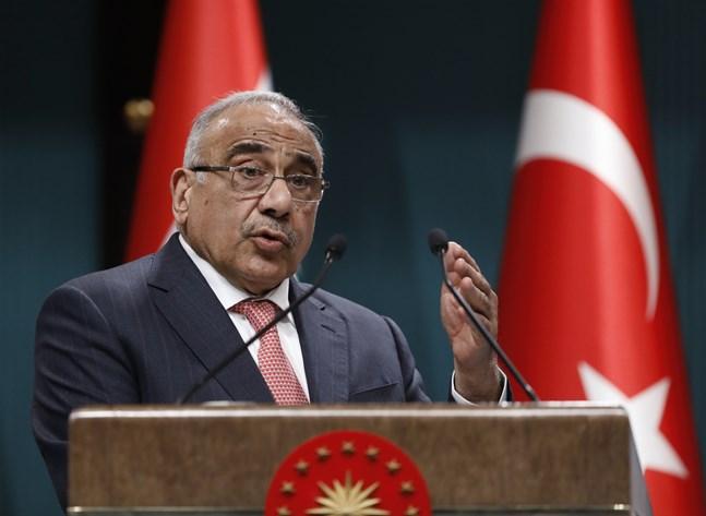 Många vill att premiärministern Adil Abd al-Mahdi avgår. Bild från hans besök i Turkiet tidigare i år.