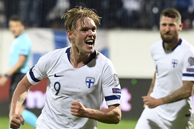 Fredrik Jensen, målskytt mot Armenien i mötet i i mars, fick till det igen.