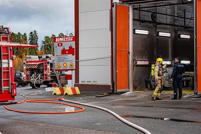 Brandkåren ryckte ut till företaget Limetec i Karleby.