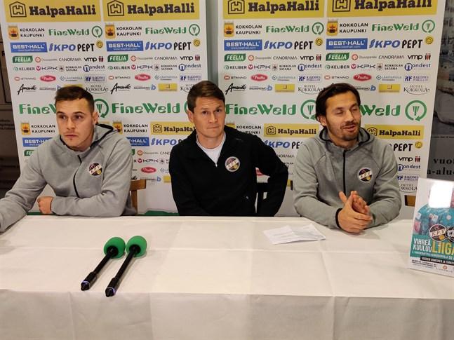 Juri Kinnunen, Jani Uotinen och Sebastian Mannström blickar med spänning fram emot det stundande ligakvalet.