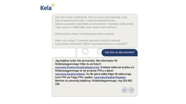 Bland annat Folkpensionsanstalten och Skatteverket har gjort försök med chatbotar inom kundbetjäningen. Men då har svenska språket glömts bort.