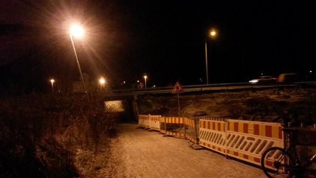 Klockan nio på onsdagen stängs underfarten mellan Vikinga och Dragnäsbäck.