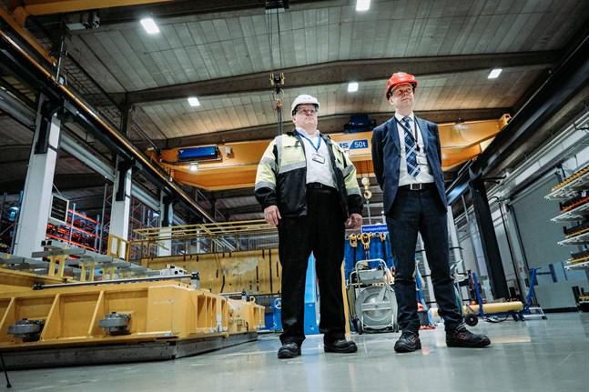 Toni Koskinen och Matti Vaattovaara är stolta över det arbete som görs i Vasa.