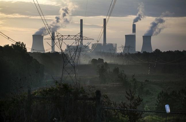 Ett kolkraftverk i den amerikanska delstaten Georgia är en av de största utsläppskällorna i USA. Arkivbild från 2017.