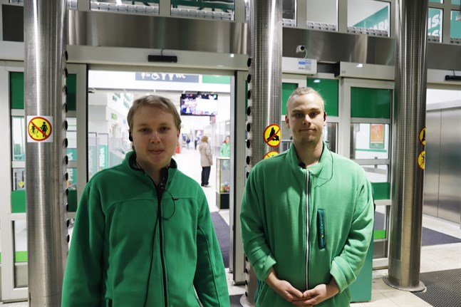 Sami Rinne och Niko Vartiainen arbetade då branden bröt ut.