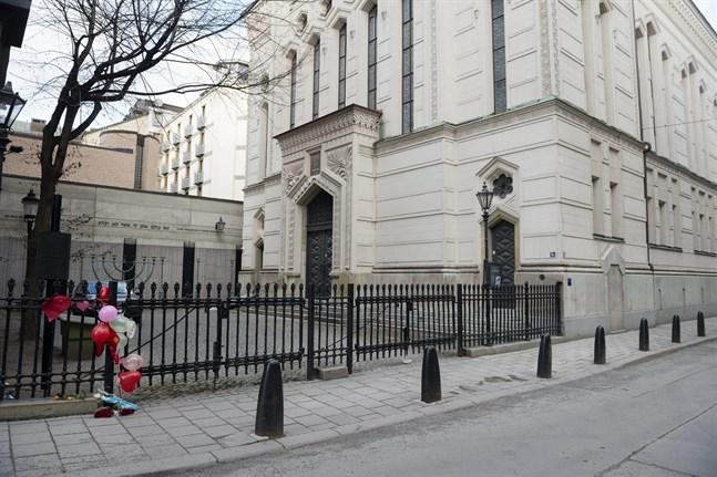 Stockholms stora synagoga utsattes för den koordinerade attacken. Arkivbild.