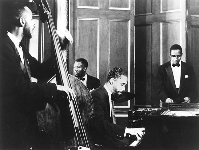 Så här såg den ursprungliga Modern Jazz Quartet (MJQ) ut. På Street Jazzen i Vasa spelar österbottniska musiker i ett band med samma sammansättning.