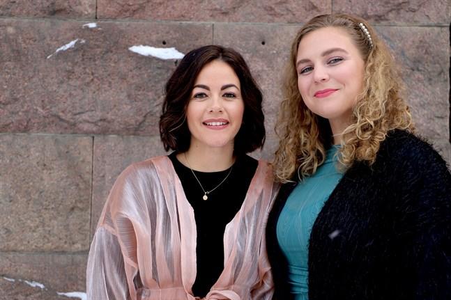 Ivonne Ruiz Olate och Erica Nieminen kompletterar varandra. Ivonne står för det visuella kunnandet och Erica kan ekonomi.