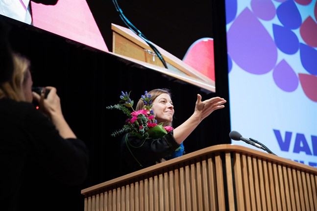 Li Andersson kritiserade skatteplaneringen inom vårdbolag i sitt linjetal på söndagen.