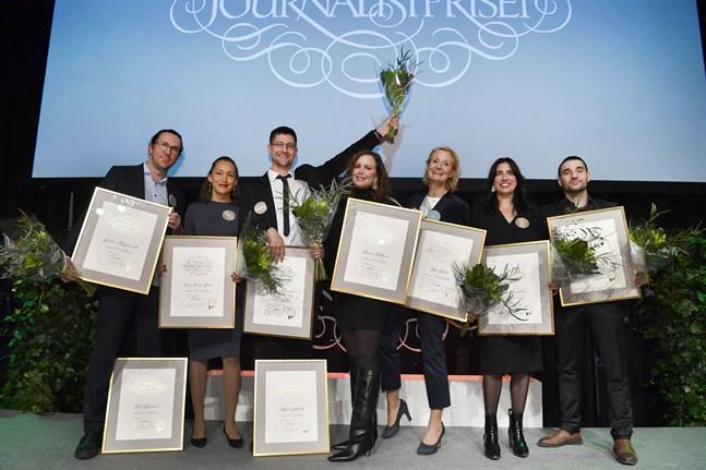 Årets mottagare av Stora journalistpriset, som delades ut på torsdagskvällen.