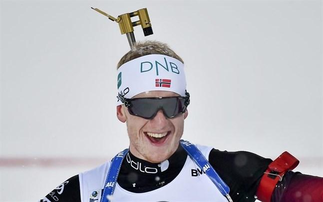 Johannes Thingnes Bø under VM i Östersund där han tog fyra guld. Arkivbild.