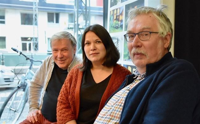 Dag Andersson, Mikaela Westerholm och Klas Fransberg på Finlandssvenskt filmcentrum tryggar utbudet på svenska filmer i Finland.