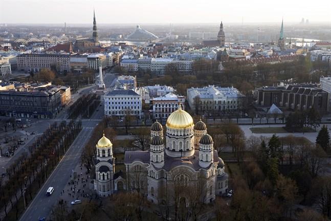 Utsikt över Lettlands huvudstad Riga.