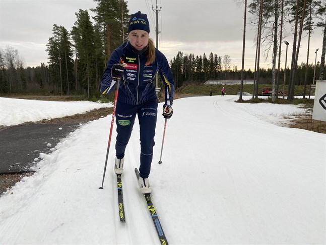 Starten i sprint är viktig. Frida Häggkvist har varit en av landets bästa sprintrar de senaste säsongerna.