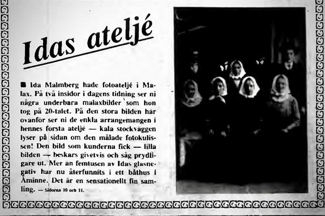 Faksimil från Vasabladet den 1 maj 1983.