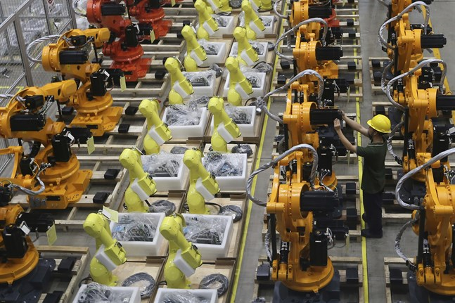 Kinas industriproduktion visar på tillväxt igen. Arkivbild