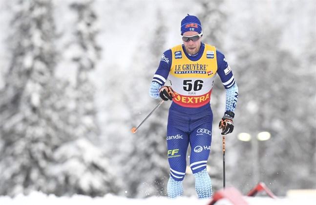 Joni Mäki hade ingen toppdag i distansloppet.