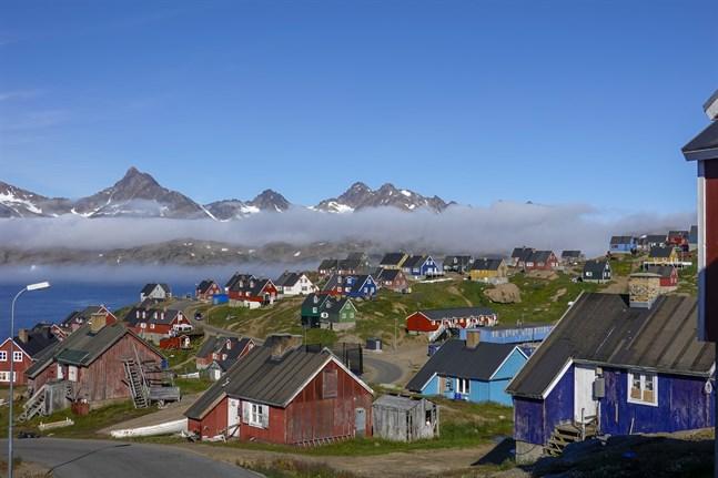 Byn Tasiilaq på sydöstra Grönland. Arkivbild.