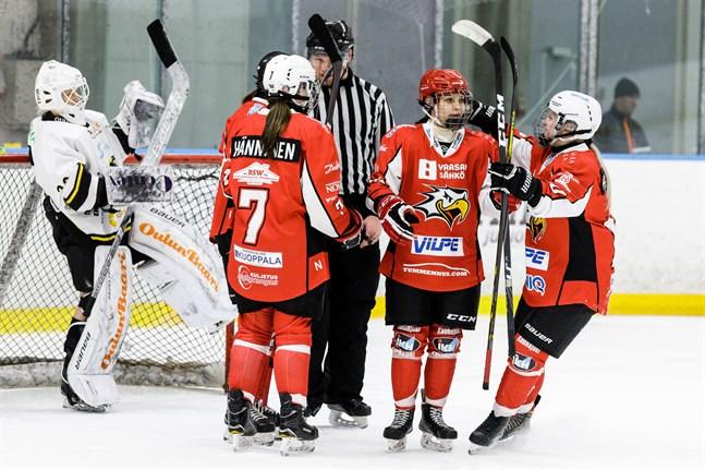 Noora Mylläri gjorde lagets enda mål.