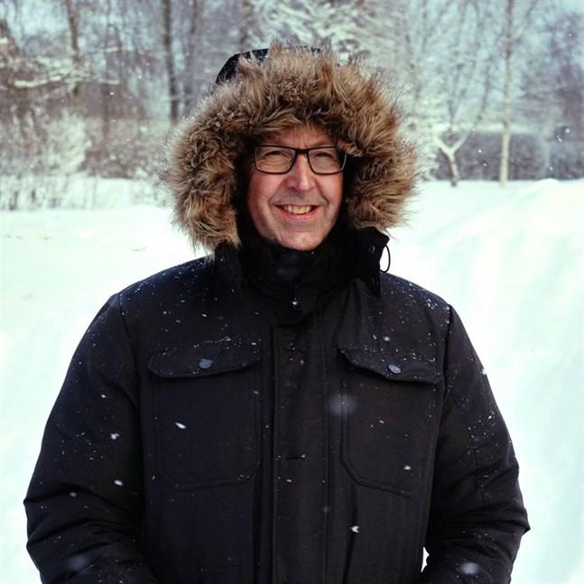 Rune Björklund trivs med vintern och är ofta i Lappland.