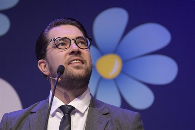 Sverigedemokraternas partiledare Jimmie Åkesson. En vinnare i dagens mätning?