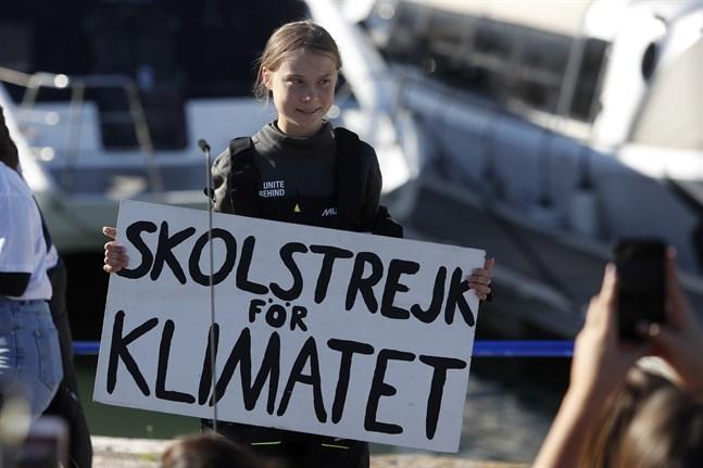 Greta Thunberg ska stanna några dagar i Lissabon innan hon beger sig mot Madrid.